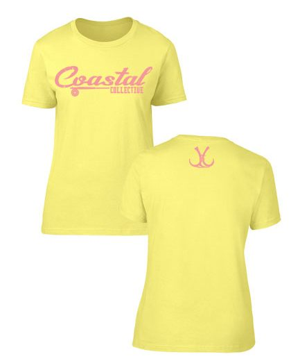 ladies coastal branded short sleeve fishing shirt