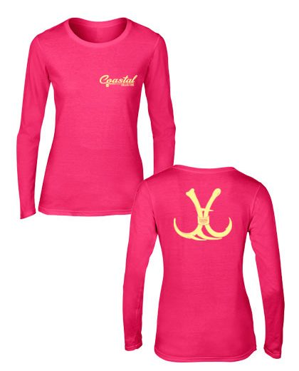 women's coastal branded long sleeve hunting or fishing shirt
